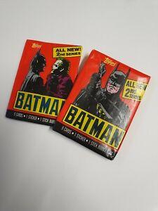 Topps Batman Trading Cards Wax Pack Sealed vintage 1989 keaton