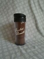 Dunkin Donuts Classic Brown 2010 Coffee Cup Travel Mug Tumbler EUC