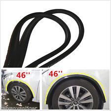 2×46''Car Fender Flares Extension Black Carbon Fiber Wheel Eyebrow Protector Lip