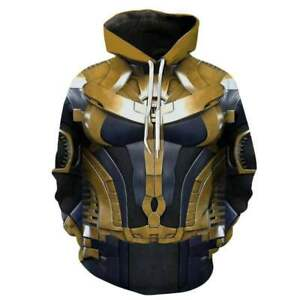 Avengers Thanos Hoodie Supervillains Casual Hooded Sweatshirt Cosplay Jacket Top