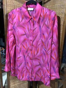 Draper's & Damon's Brand Ladies Pink Multi Color Blouse Sz 1X