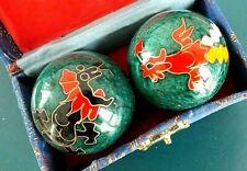 CHINESE GREEN DRAGON STRESS RELEASE HEALTH MEDITATION BALL BAODING HAND EXERCISE