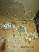 assortment of smaller dream catchers- some need repair