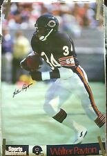 RARE WALTER PAYTON BEARS 1989 VINTAGE ORIGINAL SPORTS ILLUSTRATED SI NFL POSTER