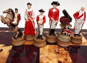 AMERICAN REVOLUTIONARY War Chess Men Set independence revolution NO BOARD