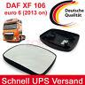Neu LINKS Weitwinkelspiegelglas Daf XF106 2013an Spiegelglas Euro6 Aussenspiegel