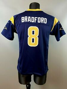 LOS ANGELES RAMS BRADFORD NFL FOOTBALL SHIRT JERSEY NIKE BOYS SIZE L