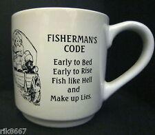virtually a Pint Pot Or Mug Fisher mans Code Stoneware