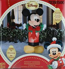 Christmas Disney 5 ft Mickey Mouse with Wreath Light Up Airblown Inflatable