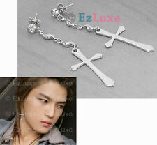 Korean Tohoshinki TVXQ DBSK Jejung Wave Cross Earrings