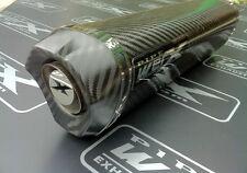 Honda CBR 900 Fireblade 1996 - 1999 Carbon Tri Oval Carbon Outlet Exhaust Can