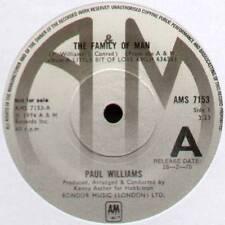 "PAUL WILLIAMS ~ THE FAMILY OF MAN / MARGARITA ~ 1974 UK ""PROMO"" 7"" SINGLE"