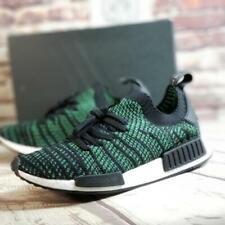Adidas NMD R1 STLT PK Originals Men's Shoes Sz 11.5 Black Green Primeknit AQ0936