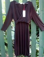 BNWT 'Ripe Maternity' XL Black BREASTFEEDING BALLET WRAP NURSING DRESS Fashion