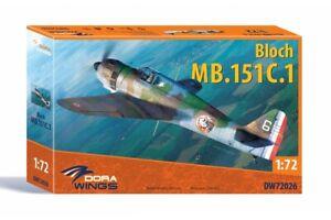Dora Wings DW72026 Bloch MB.151 C.1 1/72 plastic kit