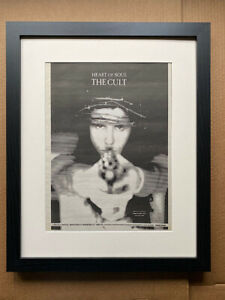 CULT HEART OF SOUL (FRAMED) POSTER SIZED original music press advert from 1992-