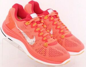 Nike 599395-601 Lunarglide 5 Pink Lace-Up Athletic Running Shoes Women's US 8.5