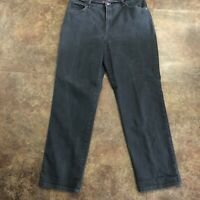 Gloria Vanderbilt Amanda Jeans 16 Average Black Denim Flat Front