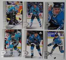 1996-97 Upper Deck UD Series 2 San Jose Sharks Team Set of 6 Hockey Cards
