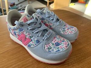 Cath Kidston New Balance Girls Trainers UK Size 11 Blue Pink Floral