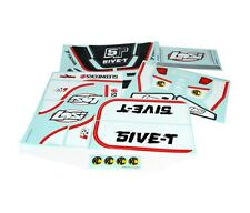 Losi Racing LOSB8255 5IVE-T Sticker & Graphic Sheet Set: Black