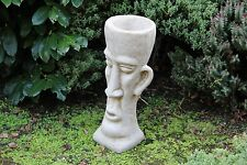 Easter Island Head Stone Garden Ornament Decor Pot Statue