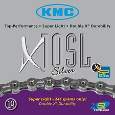 KMC X10SL Road Bicycle Chain-Silver-10 Speed-116 Link-Light Weight-New