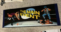 "Original 22 7/8-8 1/4"" Translite The Main Event arcade sign marquee IF15H"