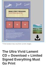 More details for manic street preachers everything must go *signed* poster &ultra vivid lament cd
