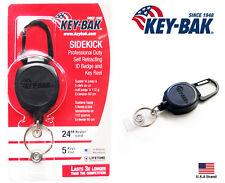 "Key-Bak SIDEKICK Retractable I.D. Badge Reel Key Holder 24"" Cord / 4 oz"
