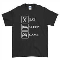 Eat Sleep Game Gamer t shirt Funny Party Funny Cool Mens Womens T-Shirt