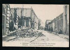 Greece SALONIQUE Salonica Fire disaster 1917 French St PPC