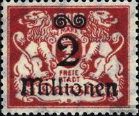 Danzig 165 postfrisch 1923 Aushilfsausgabe