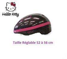 Casque Vélo Fille  Hello Kitty Noir Pailleté Fuchsia Taille 52 - 56 cm
