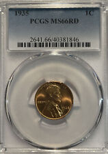 1935 Pcgs Ms66Rd Lincoln Wheat Cent 1C