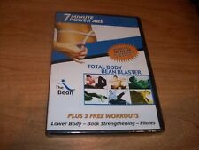Total Body Bean Blaster 7 Minute Power Abs Pilates Workouts (DVD 2006) NEW