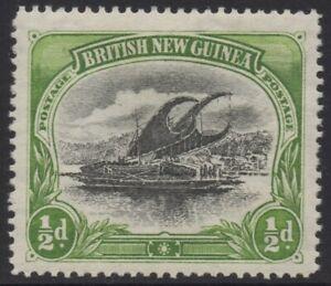 PAPUA(BNG) 1901-05 1/2d BLACK AND YELLOW GREEN LAKATOI MLH WMK HORIZONTALL SG.1