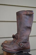 Tall Frye Veronica Slouch Dark Brown Leather Boots Women size 7.5  NU $355