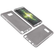 Funda para Samsung Galaxy Note 5 Funda protectora de móvil TPU GOMA FUNDA GRIS