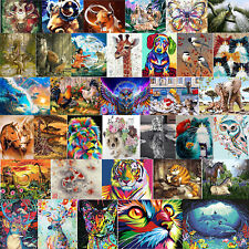 DIY Oil Painting by Numbers Animals Paint Drawing Canvas Hand Painted Wall Decor