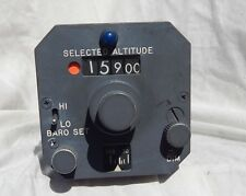 Vintage Airline Pilot's Altitude Selector Control with Warning Horn Instrument