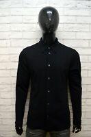 VERSACE Camicia Nera Uomo Taglia M Maglia Camicetta Polo Shirt Men Black Casual