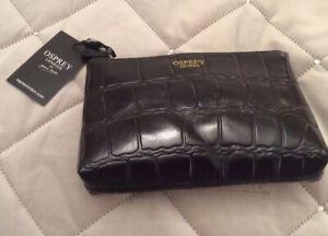 Osprey Leather Make Up Bag