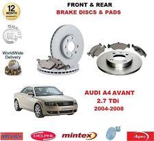 Für Audi A4 2.7 Tdi Avant 180BHP 2004-2008 Vorne & Hinten Bremsbeläge &