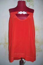 Marc by Marc Jacobs Coral Orange All Silk Bathing Suit Mini Dress Cover Up sz P