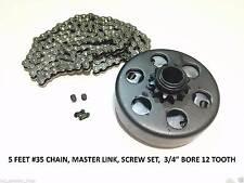 "Predator 212cc 6.5HP Centrifugal Clutch 3/4"" Bore 12 Tooth #35 Chain screw sets"