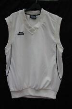 Slazenger Small White Polyester Sleeveless V Neck Sports Top