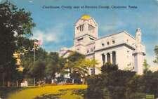Corsicana Texas Court House Street View Antique Postcard K61280