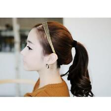 Elegant Lady Gold Alloy 5 Chains Headband Hair Elastic Band Adjustable Accory