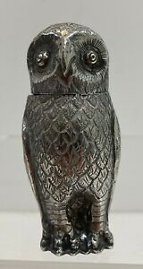 Silver Owl Pepper Shaker